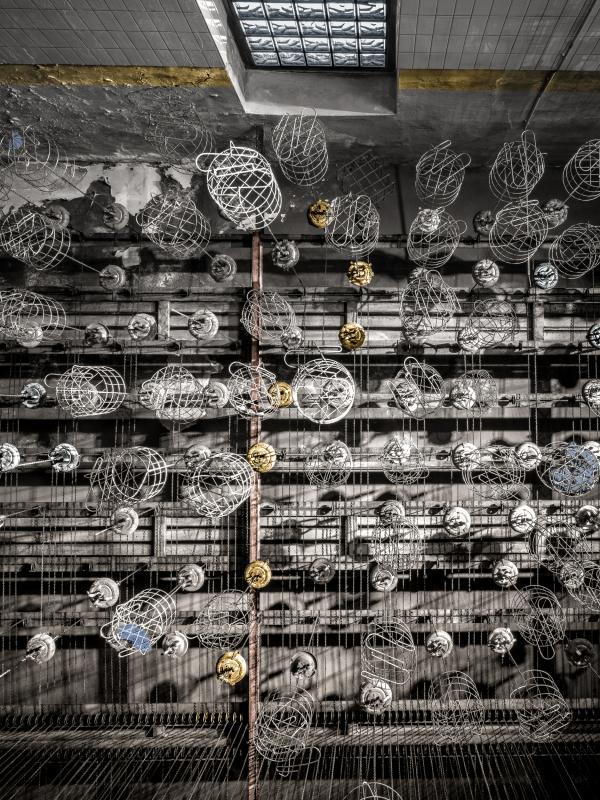 Gold, Silber, Bronze // Zyklus WORKED-OUT - AUF-KOHLE // 2017 // L 180 x 120 cm - M 120 x 80 cm - S 80 x 53,3 cm
