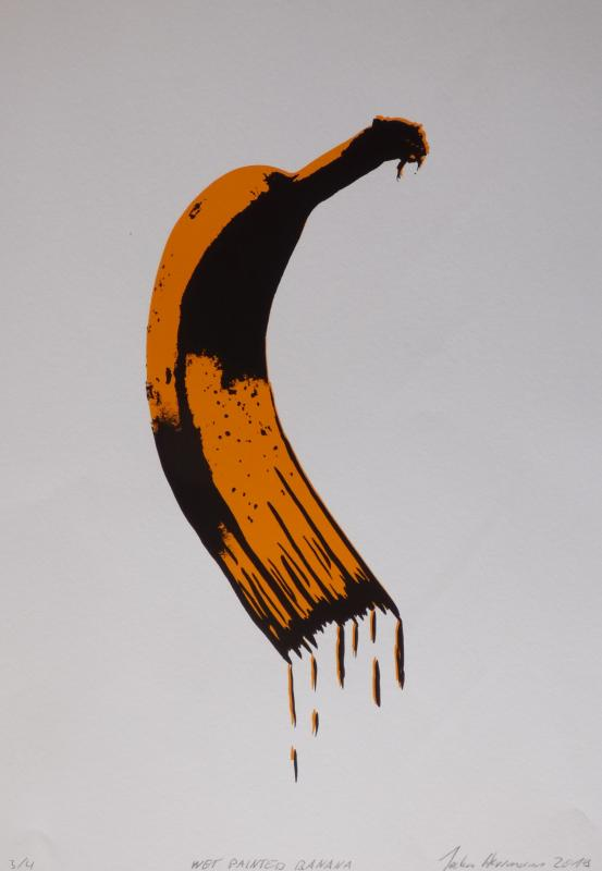 Wet painted banana, limitierter Siebdruck