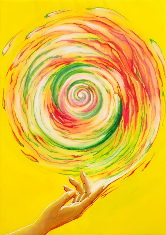 Energiekreis 21, Acryl auf Leinwand, 50 x 70 cm, 2021
