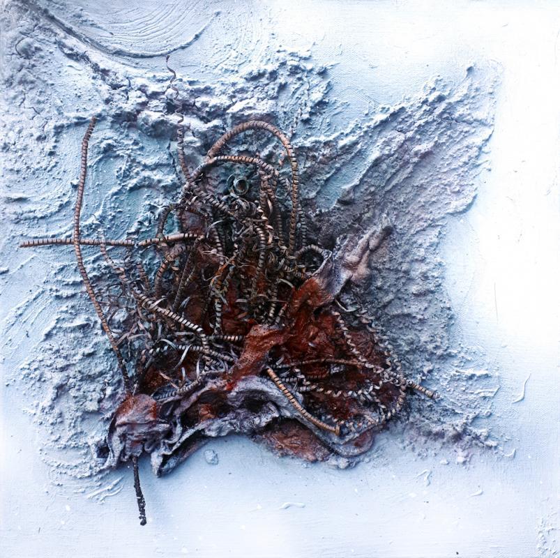 Herze min - Mixed Material Art 40 x 40 cm, 2018