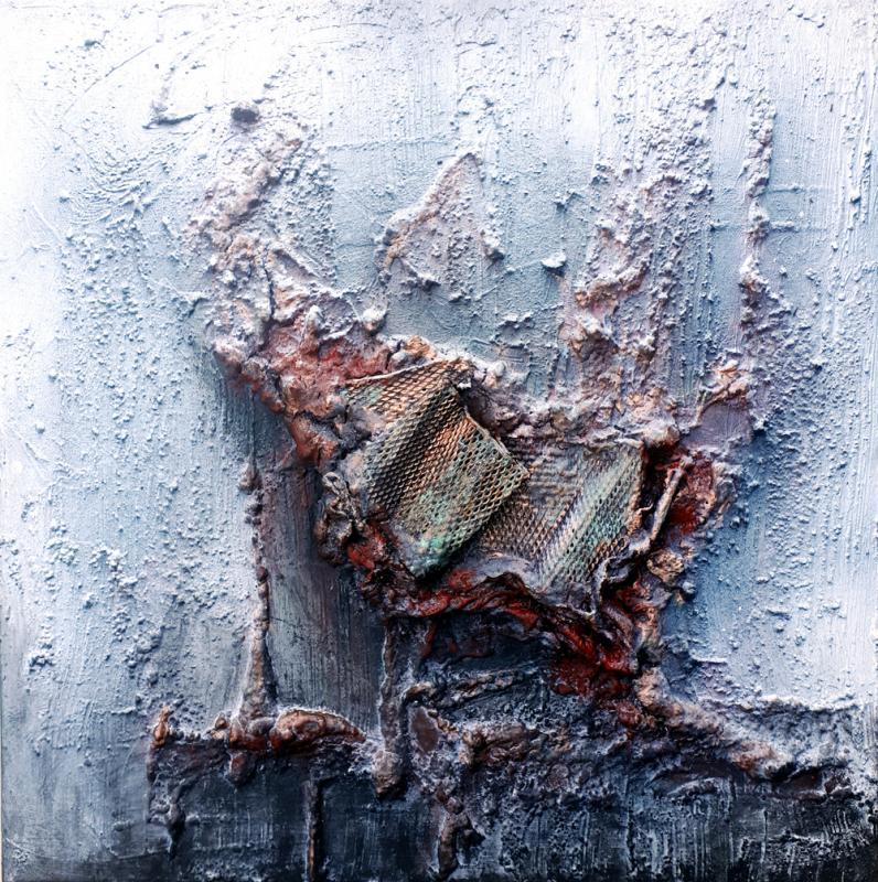Lindwurm - Mixed Material Art, 40 x 40 cm, 2018