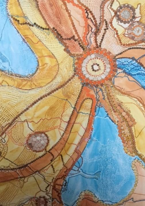 das der Aborigines aus der vogelperspektive