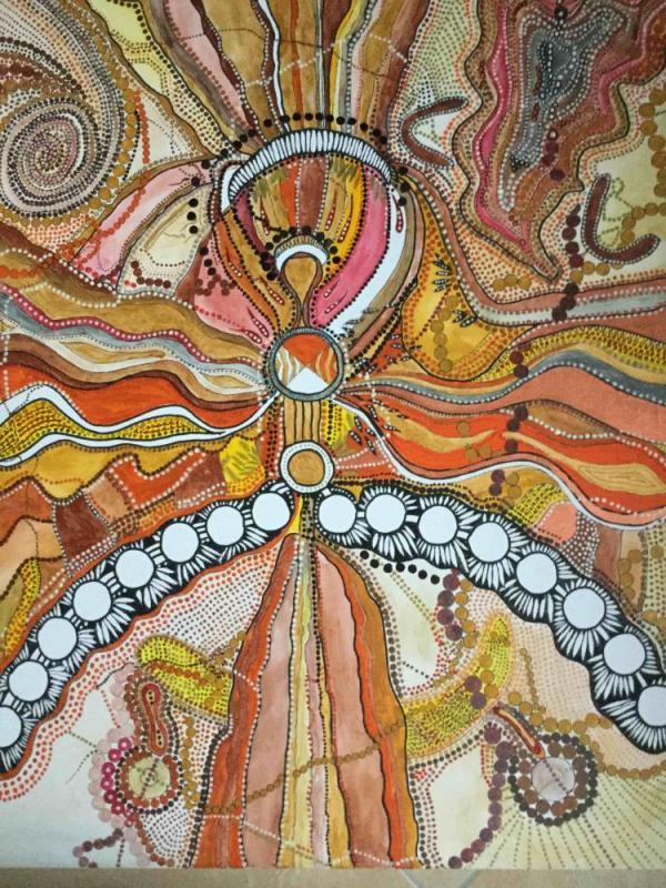 Thingstätte der Aborigines im outback