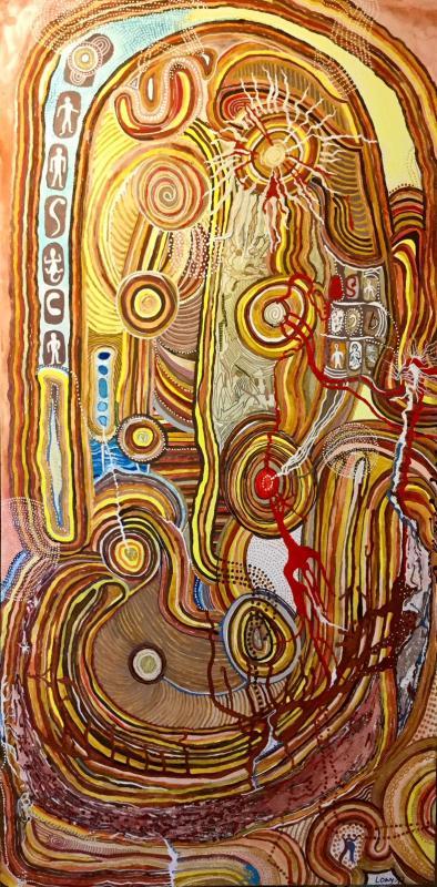Aborigines träumen von ihrer Heimat und den heiligen Orten
