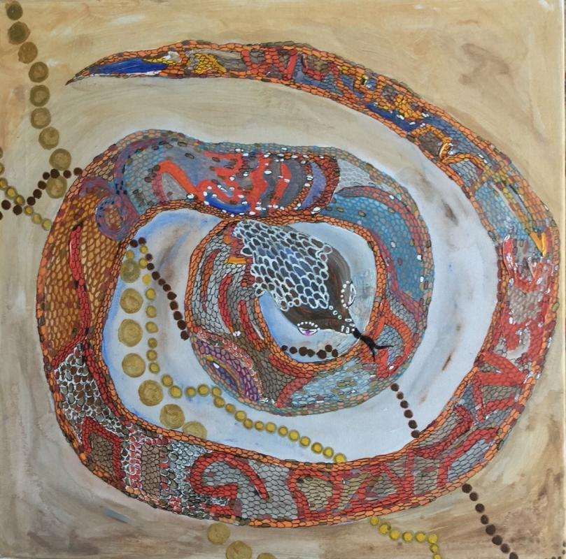 DIE regenbogenschlange symbolisiert das WICHTIGSTE sCHÖPFUNGSWESEN