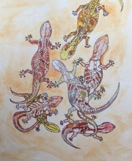 verspielte geckos