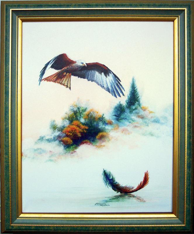 Acryl auf Leinwand, Holzrahmen  ca.: 43 x 55 cm