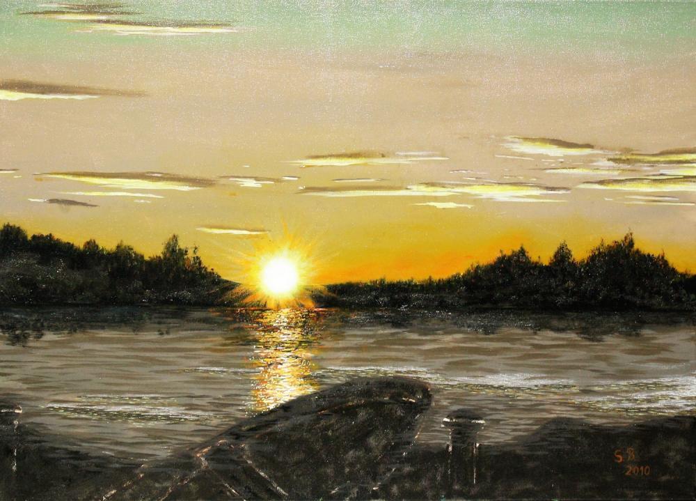 Mittsommer in Schweden, Öl auf Leinwand, 70 cm X 50 cm