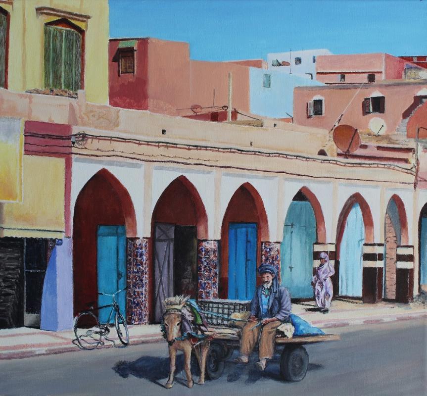 Farben Marokkos 1, 2019, Acryl auf Leinwand, 50 X 45 cm