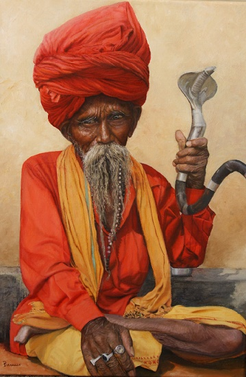 Sadhu - ein Leben in Askese, Öl auf Leinwand, 45 cm x 70 cm