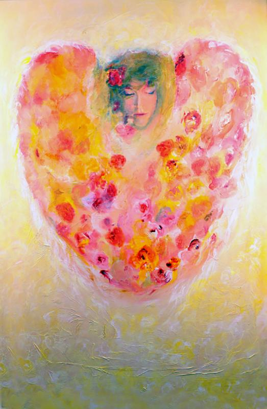 Engel-Ein Herz für Blüten
