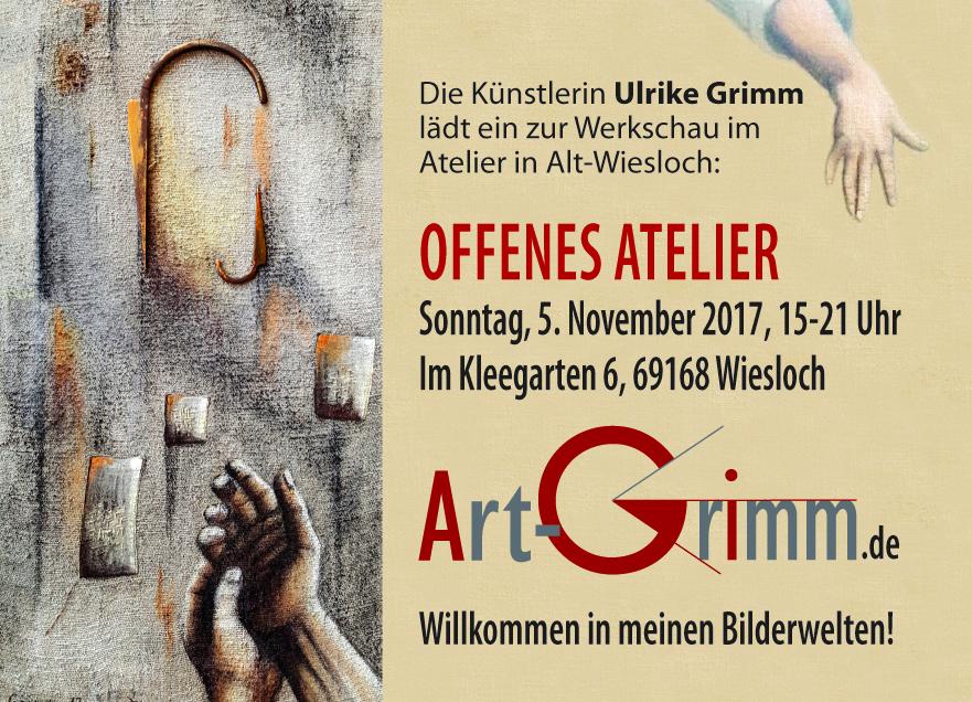 Flyer Offenes Atelier Art-Grimm.de
